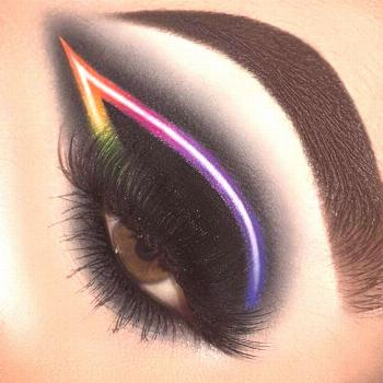 , Black neon eye makeup    ,          Black neon eye makeup