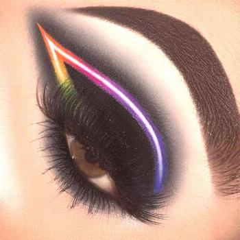 Black neon eye makeup  Black neon eye makeup , Black neon eye makeup ,