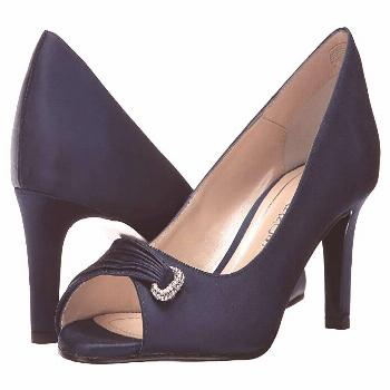 Caparros John (Navy Satin) High Heels. The Caparros John pump is an elegant beauty that will have a