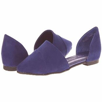Chinese Laundry Easy Does It Flat (Bright Navy Suede) Women's Slip on  Shoes. Kick back with these