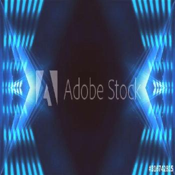 Dark background with lines and spotlights, neon light, night view. Abstract blue background. Light