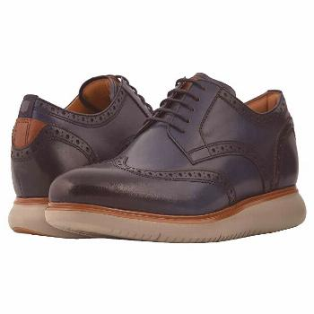 Florsheim Fuel Wing Tip Oxford (Navy/Grey Sole) Men's Lace Up Wing Tip Shoes. Get your business cas