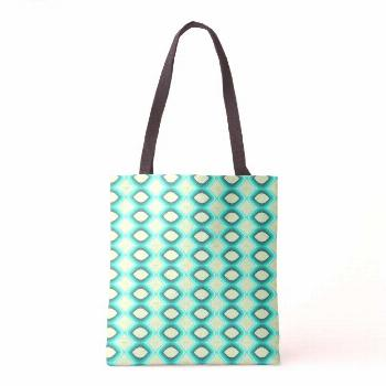 Green neon bright pattern tote bag