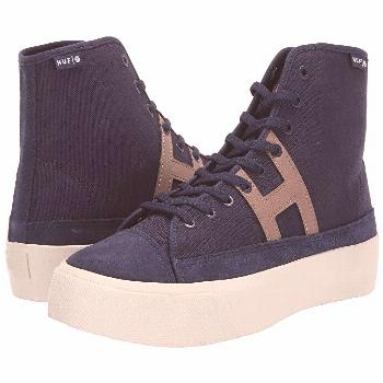 HUF Hupper 2 Hi (Navy) Men's Skate Shoes. Bring timeless style to your board with the clean look of