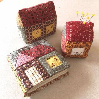 LITTLE HOUSE PDF pattern for Needle Book and Pincushion hand | Etsy