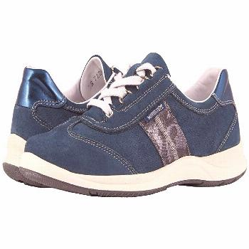 Mephisto Laser Perfore (Navy Nubuck/Blue Boa/Magic) Women's Lace up casual Shoes. Perfect style mee
