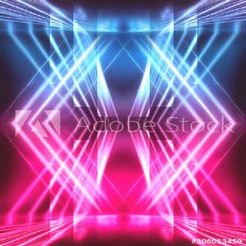 Modern abstract futuristic background. red and blue neon light. Rays and lines, abstract light. Lig