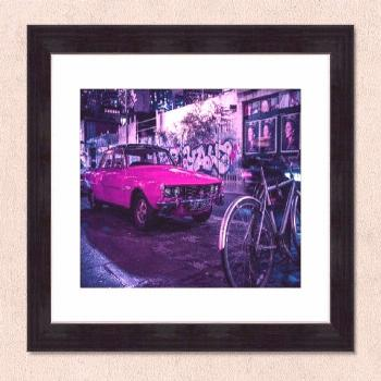 Neon Classic Car Rover P6 - Street Photography Art Print -  Neon Classic Car Rover P6 – Street Ph