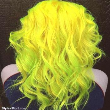 Neon Hair Color Looks Great and Amazing on Long Hairstyles. Every stylish girls ... -  Neon Hair Co