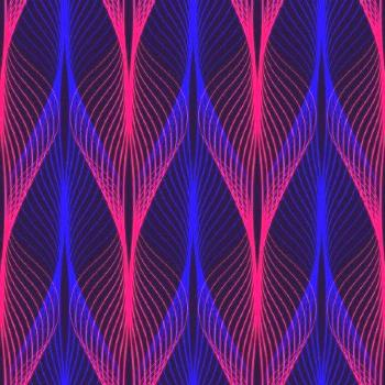 Neon Lines Seamless Pattern Background Glowing 80S Retro Vapor Wave - Sto ,