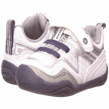 pediped Force Grip n Go (Toddler) (White/Navy) Boy's Shoes. May the force be with him in every ounc