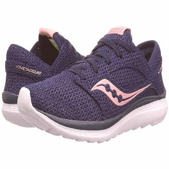 Saucony Kineta Relay (Navy/Pink) Women's Running Shoes. At the gym and on the streets  the Saucony