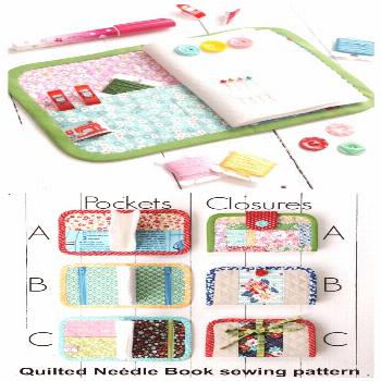 Sewing pattern for a needle book. This pins and needles book sewing pattern comes in several differ
