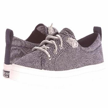 Sperry Crest Vibe Metallic (Navy) Women's Lace up casual Shoes. Style your next outfit with Sperry