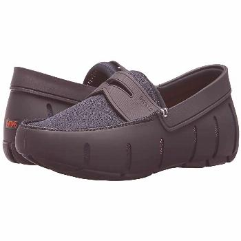 SWIMS Penny Loafer (Navy) Men's Shoes. Go for sporty leisure wear with these functional and stylish
