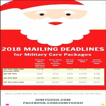 These Are The 2018 Holiday Deadlines For Mailing Military Care Packages Mail