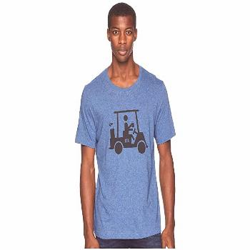 TravisMathew Mapes Tee (Heather True Navy) Men's T Shirt. Have a little fun in the Travis Mathew Ma