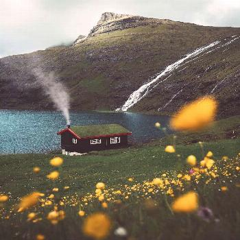 Would you live here?  A home in the @nature  Saksun Faroe Islands. Photo by @josiahwg