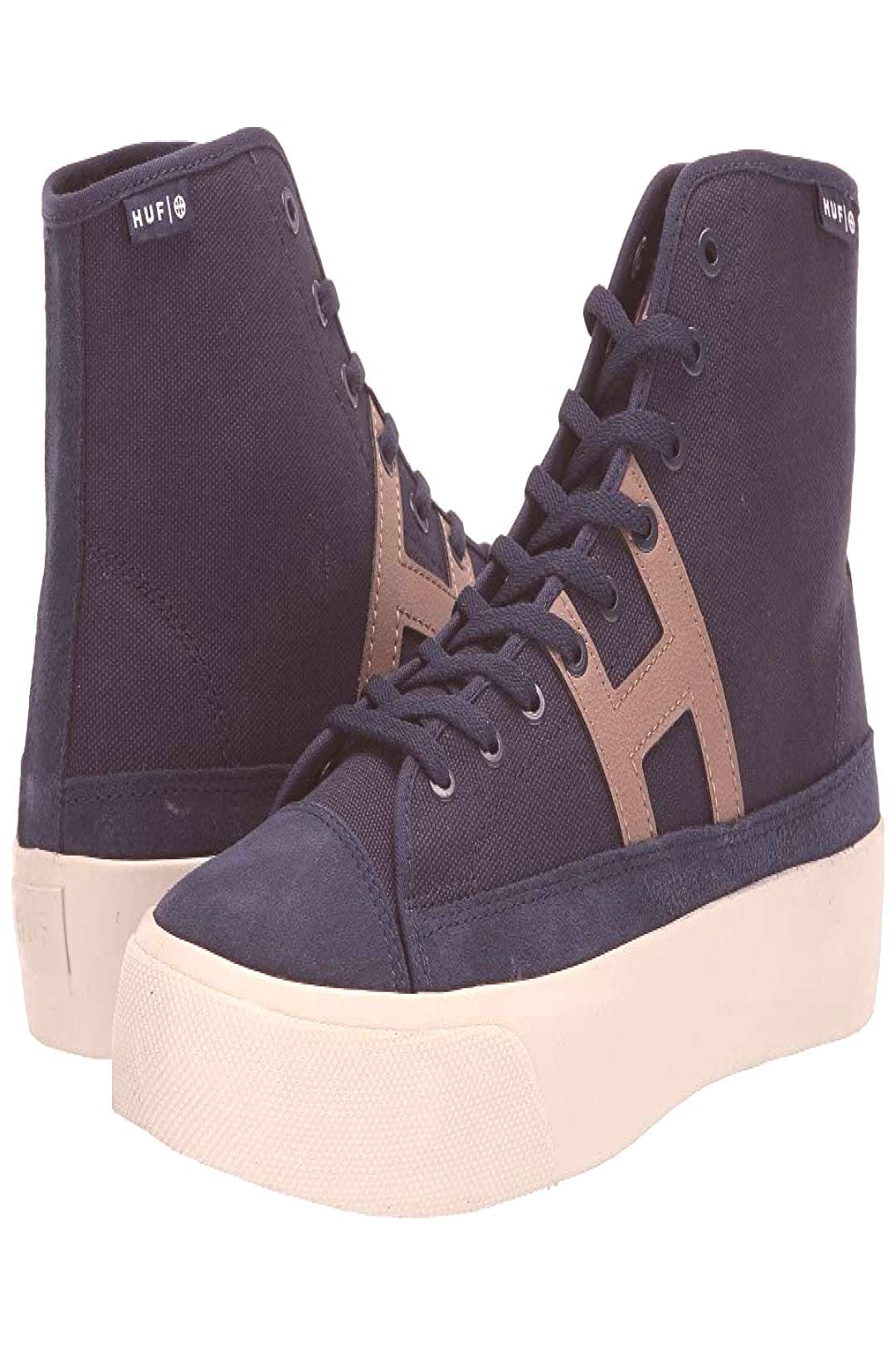HUF Hupper 2 Hi (Navy) Mens Skate Shoes. Bring timeless style to your board with the clean look of