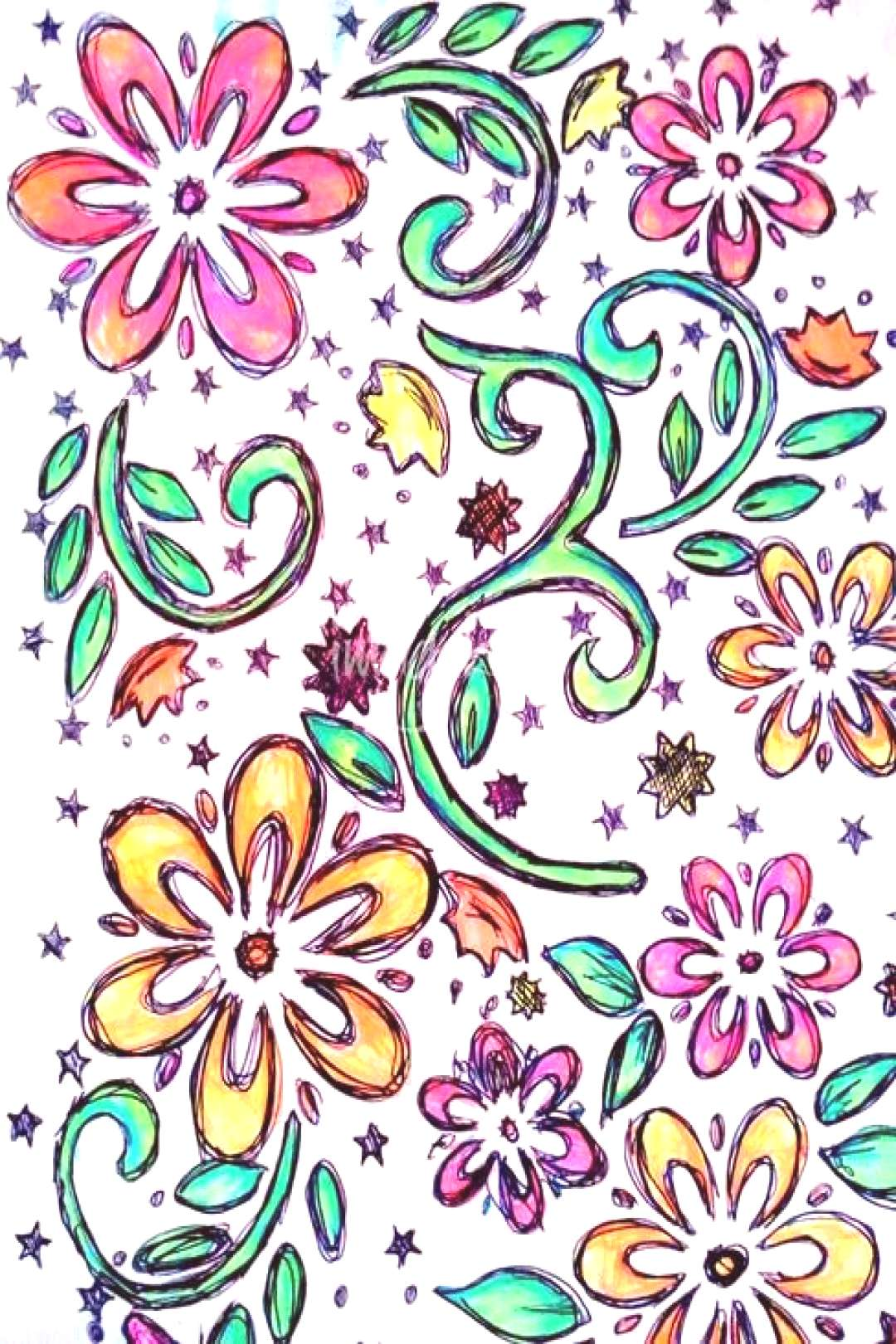 quotNeon flowersquot by KellybeanKreations, 2015 ,